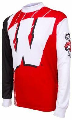 cd32f906952 NCAA Boys  Wisconsin Badgers Long Sleeve Performance BMX Jersey (Multi