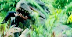 Brianna let's out a high pitched scream as her eyes are forced to watch Indominus Rex finish off another tourist.