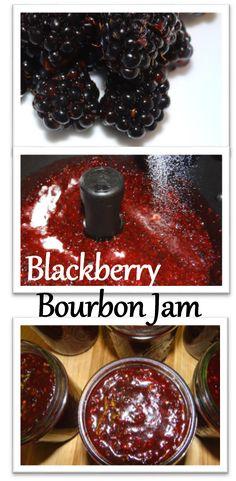 Wild Blackberry Bourbon Jam with FreshTECH Automatic Jam & Jelly Maker Tutorial Rural Mom - Food: Veggie tables Jelly Recipes, Jam Recipes, Canning Recipes, Bourbon Recipes, Canning Tips, Drink Recipes, Jelly Maker, Jam Maker, Blackberry Recipes