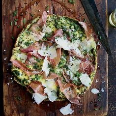 Frittata with Herbs, Prosciutto and Parmesan by foodandwine #Frittata
