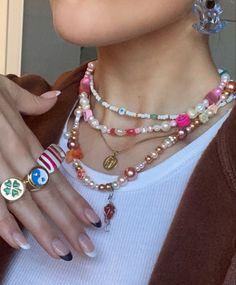 Funky Jewelry, Cute Jewelry, Diy Jewelry, Beaded Jewelry, Jewelry Accessories, Jewelry Making, Handmade Wire Jewelry, Hippie Jewelry, Handmade Necklaces