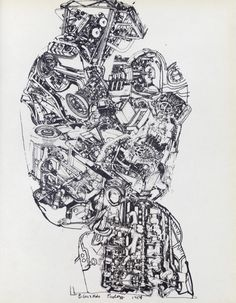 Page from The Metallization of a Dream, showing Eduardo Paolozzi's Automobile Head screen print, 1954. From the essay: On My Shelf: The Metallization of a Dream