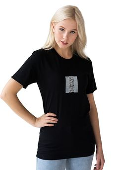 Pulsar Artwork as used by Joy Division on Unknown Pleasures Minimal LP size Print Retro Womens Mens Screen Printed Tee or Tank Top Vest Cami
