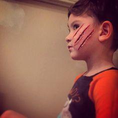 Sfx makeup scratches gore sarahvonsatan Ben nye nose and scar wax