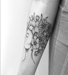 flower tattoo delicate