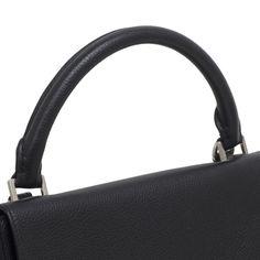 b3242afe137a Celine Black Pebbled Calfskin & Suede Small Trapeze Bag