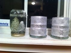 Snow globes and candle holders!