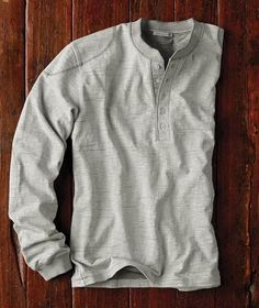 Effortlessly Cool Men's Henleys - I don't like women's henleys. Too tight. I wear Men's Small, perfect relaxed fit. Women's Henley, Henley Shirts, Tee Shirts, Casual T Shirts, Men Casual, Cool Outfits, Casual Outfits, Tactical Clothing, Mens Fall
