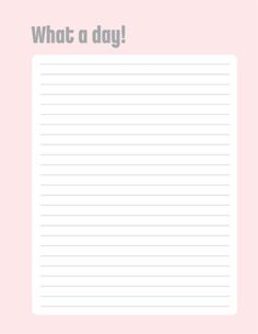 Free Journal Page Printable from Creating Keepsakes {4 different pages included in the download}