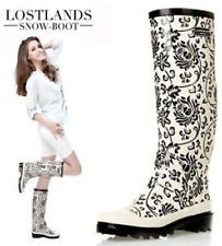 Ladies Fashion Floral Print Wellington Wellies Rubber Rain Boots Shoes #DFVGBN