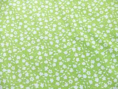 This but inversed. 5 Yards Waverly Fabric Lime Green Flowers by TextilesandThings