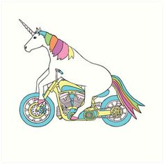 Unicorn Riding Motorcycle Funny Unicorn Shirt