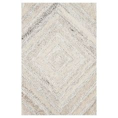 Geometric/Solid Rug - Ivory - (10'X13') - Rizzy Home, Durable