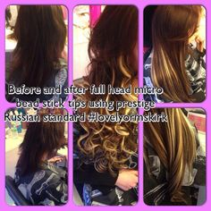 20 inch micro ring Prestige Hair Extensions fitted by @lovelyormskirk