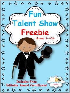 A talent show is a fun filled event that is a great way to showcase your students. Classroom talents or School wide talent shows are popular with elementary, middle & high school students. This product is completely editable and includes: *Audition Forms*Editable Talent Show Check List*Editable Talent Show Award Certificates*Easy Talent Show Tips*Builds Student Confidence*Builds Community with parents*Provides Cross Curriculum (Reading, LA, Music, Art, Acting, etc.)*High Interest Activity…
