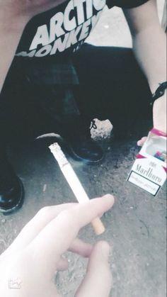 Image via We Heart It https://weheartit.com/entry/139784038 #arcticmonkeys #cigarette #girls #grunge #hipster #marlboro #smoking #vintage