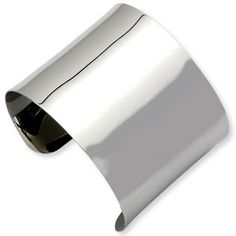 Women's Wide Stainless Steel Cuff Bangle Bracelet Jewelry Available Exclusively at Gemologica.com