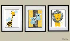 Nursery wall art baby nursery decor nursery print by MonkieBirdie Koala Nursery, Baby Nursery Decor, Nursery Design, Nursery Prints, Animal Nursery, Baby Wall Art, Nursery Wall Art, Baby Mine, Jungle Animals