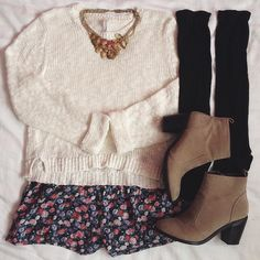 White Long Sleeve Plaid Knit Sweater