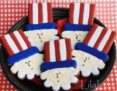 Uncle Sam patriotic cookies