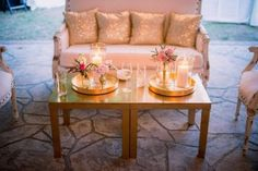 Sweetgrass Social wedding at Legare Waring House. Amanda & Matt. Gold lounge.