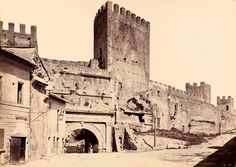 Porta Tiburtina, 1880