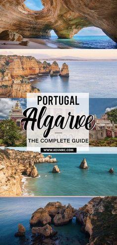 36 BEST places to Visit in Algarve Portugal + free map included! 36 BEST places to Visit in Algarve Portugal + free map included! Algarve is the south coast of Portugal, and it's. Best Places In Portugal, Visit Portugal, Best Places To Travel, Cool Places To Visit, Portugal Travel Guide, Portugal Trip, Montezuma, Monteverde, Voyage Europe