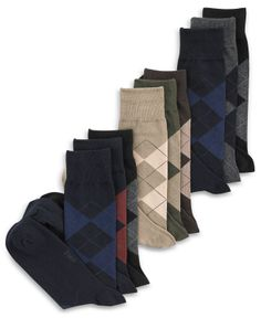 Polo Ralph Lauren Men's Socks, Extended Size Argyle Dress Men's Socks 3 Pack - Socks - Men - Macy's