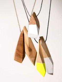 Bajkajlaj jewelry design Wooden coloring handmade jewelry