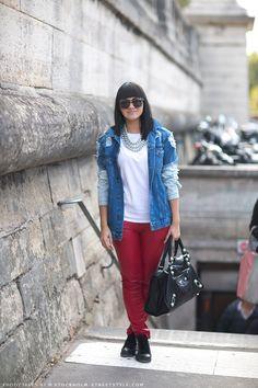 Street Style | Denim #fashion
