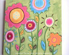 "Baby nursery decor Children wall art Nursery art paintings Kids girls room decor Nursery wall art 12 x 12 pink green ""bloomin time"" flowers Bird Paintings On Canvas, Bird Canvas, Canvas Art, Art Paintings, Baby Nursery Decor, Nursery Wall Art, Art Wall Kids, Art For Kids, Fond Rose Pale"