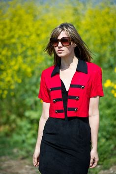 marching band cropped jacket