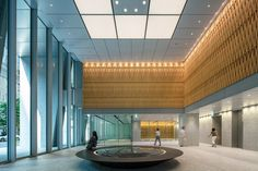 武田グローバル本社 Office Entrance, Office Lobby, Main Entrance, Office Images, Lobby Interior, Lobby Reception, Japan Design, Lobbies, Office Interiors