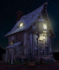 Fantasy House, David Jones on ArtStation at https://www.artstation.com/artwork/fantasy-house-80622103-f12c-49d0-a2b1-7f667926179d