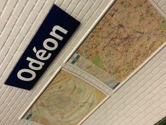 Metro stop Odeon (Beginning and end of City Walk 18)  at Rue de l'Odeon and Blvd. St. Germain, Paris VI.