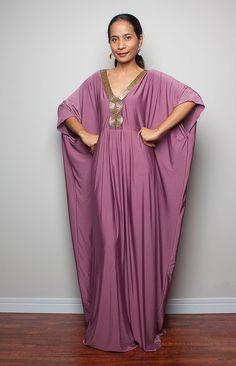 Maxi dress  Kimono Butterfly Kaftan Dress Elegant by Nuichan, $59.00