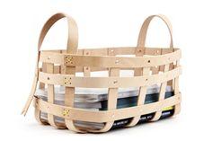 Leather Strap Large Basket