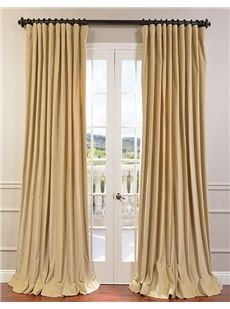 British Tan Doublewide Vintage Cotton Velvet Curtain Mauve Textured Linen Blend Pole Pocket Curtain on discounted prices with coupon and promo codes from Halfpricedrapes.com.
