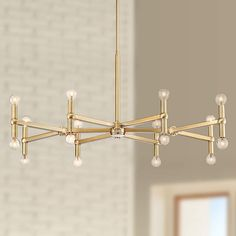 Marya Satin Brass Large Chandelier Wide Modern Fixture for Dining Room House Foyer Kitchen Island Entryway Bedroom Living Room - Possini Euro Design Chandelier Lighting Fixtures, Dining Room Light Fixtures, Dining Room Lighting, Chandelier Lamp, Pendant Lighting, Chandelier Ideas, Kitchen Fixtures, Apartment Lighting, Hallway Lighting