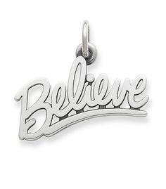 """Believe"" Charm   James Avery"