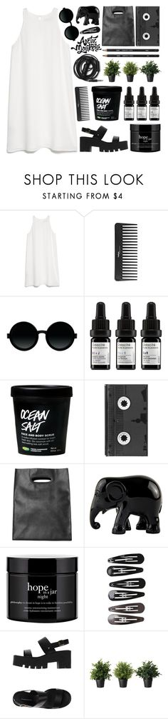 """i can't let go"" by scallydragon ❤ liked on Polyvore featuring MANGO, Sephora Collection, Moscot, Odacité, Luckies, Monki, The Elephant Family, philosophy, Clips and Windsor Smith"