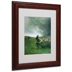 'After Storm' by Giovanni Segantini Matted Framed Painting Print