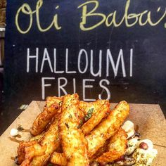 "Oli Baba's on Instagram: ""Back down at @kerbfood West India Quay tomorrow, 11:30-2 with the sabich sandwich & these halloumi fries. Yallaahh my habibis! ( by @the_boy_who_dines)"""