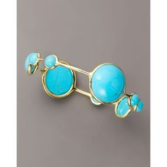 Ippolita Nine-Stone Turquoise Bangle ($3,795) ❤ liked on Polyvore