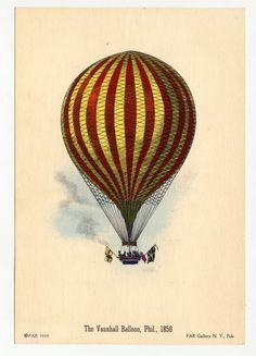 Vintage Hot Air Balloon: