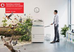 Vodafone Printer on Behance