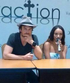 Ian Somerhalder and Kat Graham at Vampire Attraction Con in Brazil 2015 (05/02/15)