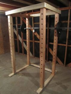 Selfmade Wood Power Rack