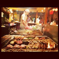Village Yokocho | Chill second-floor eatery, homestyle Japanese, lantern-strung space