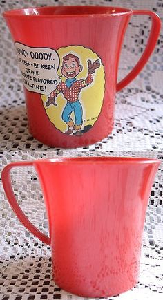 Howdy Doody 20911: Howdy Doody Ovaltine Mug, 1950 S, Excellent! -> BUY IT NOW ONLY: $74.99 on eBay!